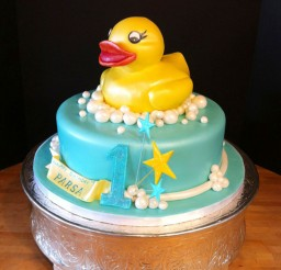 1024x1024px Rubber Ducky Birthday Cake For Kids Picture in Birthday Cake