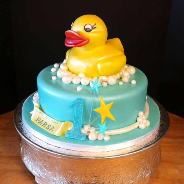 Rubber Ducky Birthday Cake For Kids Picture in Birthday Cake