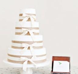 1024x1536px Rustic Burlap Wedding Cake Picture in Wedding Cake