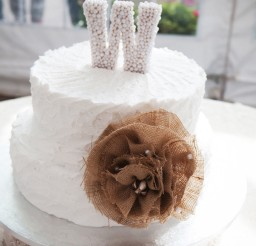 1024x1541px Rustic Glam Wedding Cake White Burlap Picture in Wedding Cake
