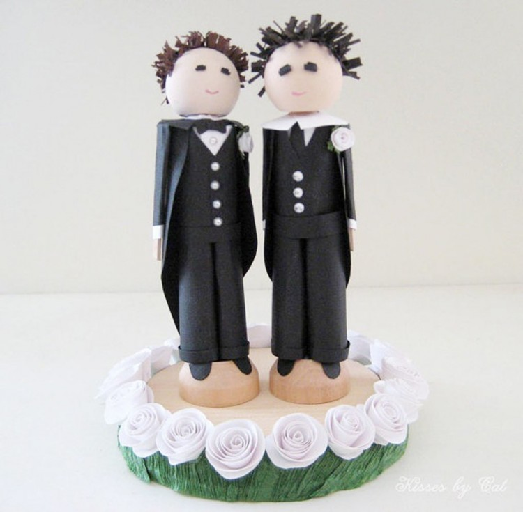 Same Sex Wedding Cake Decorations Picture in Wedding Cake