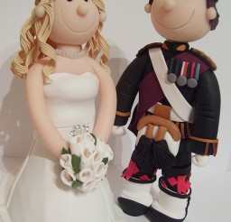 1024x1365px Scottish Military Wedding Cake Toppers Picture in Wedding Cake