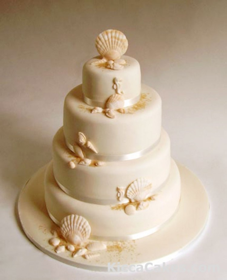Seashell Wedding Cake Picture in Wedding Cake