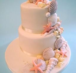 1024x1365px Seashell Wedding Cakes Decoratiion Picture in Wedding Cake