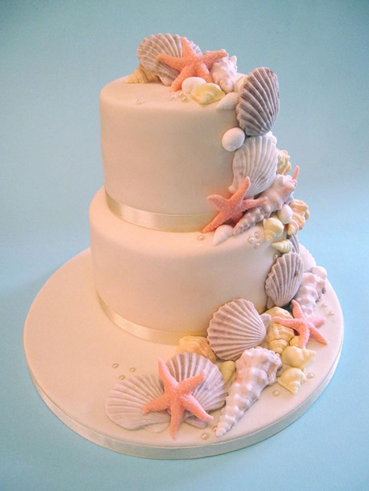 Seashell Wedding Cakes Decoratiion Picture in Wedding Cake