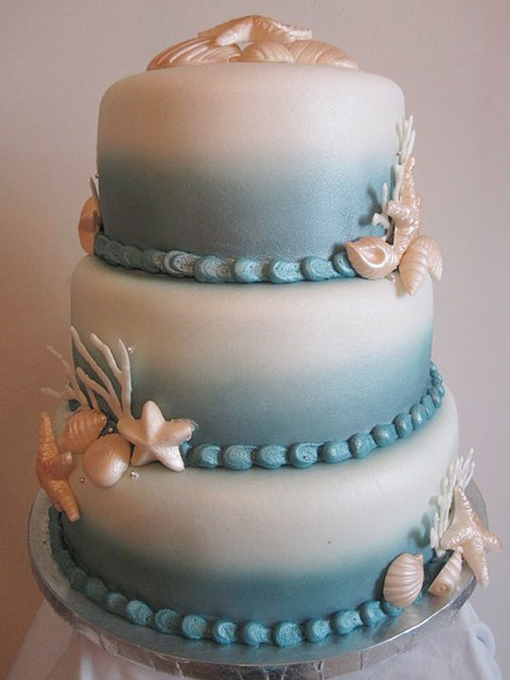 Seashell Wedding Cakes Design Picture In Cake