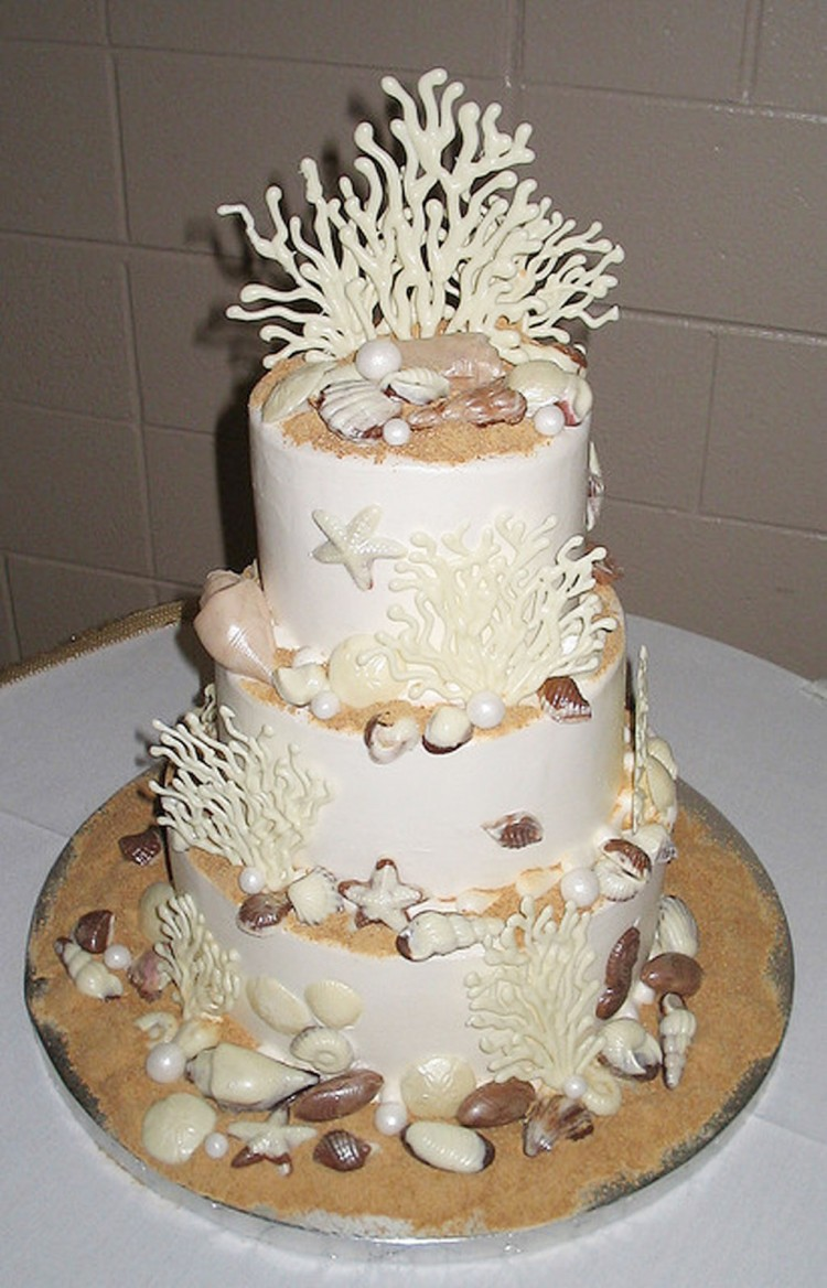 Seashell Wedding Cakes Ideas Picture in Wedding Cake