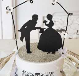 1024x1398px Silhouette Cakes Topper For Wedding Picture in Wedding Cake