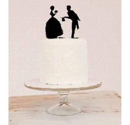 1024x1024px Silhouette Wedding Cake Topper Picture in Wedding Cake