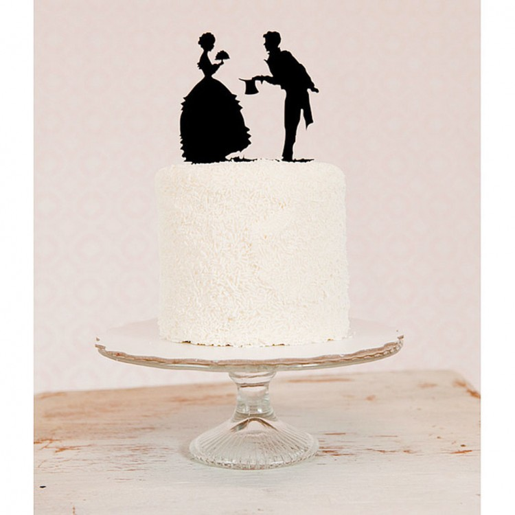 Silhouette Wedding Cake Topper Picture in Wedding Cake