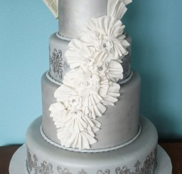 1024x1588px Silver Wedding Cake Picture in Wedding Cake