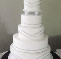 1024x1685px Simple Silver Wedding Cakes Picture in Wedding Cake