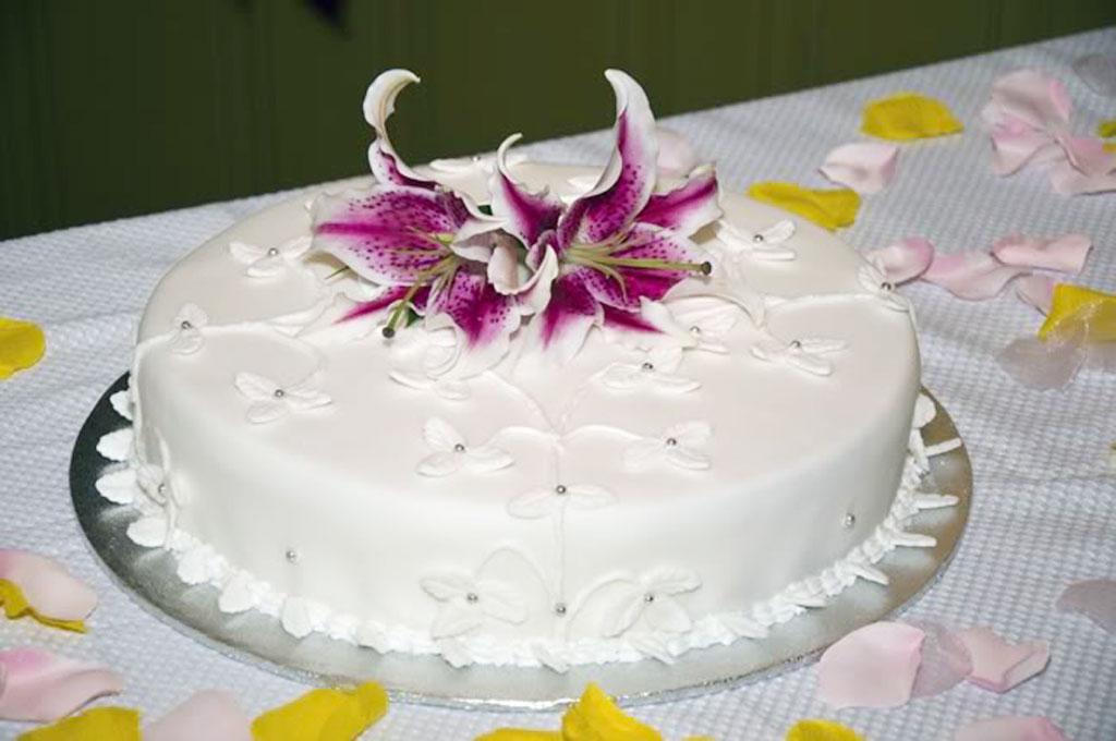 Single Layer Wedding Cake Pictures 3 Wedding Cake - Cake Ideas by ...