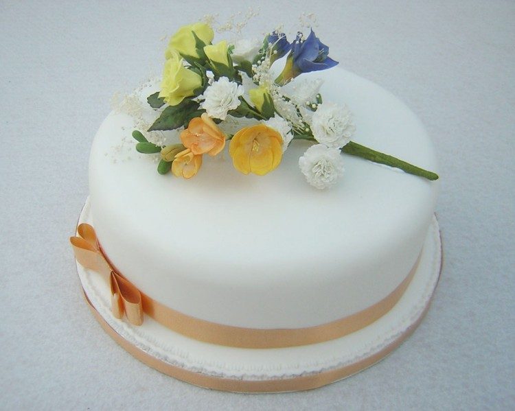 Single Layer Wedding Cake Pictures 8 Picture in Wedding Cake