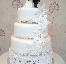 1024x1365px Snowflake Wedding Cake Pictures Picture in Wedding Cake