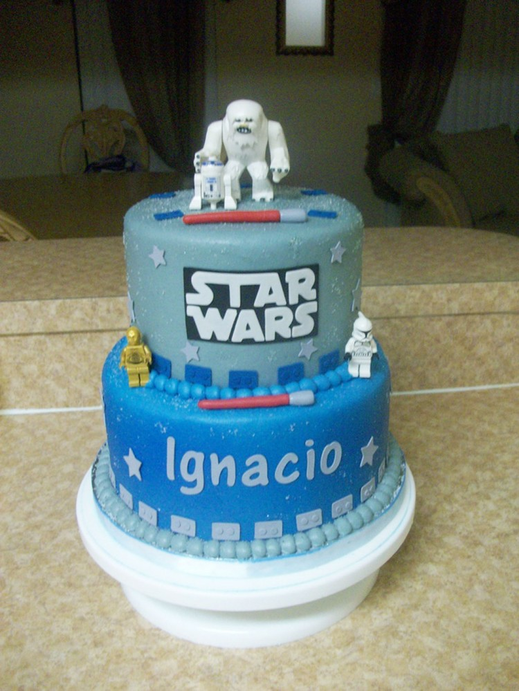 Star Wars Birthday Cake Ideas Picture in Birthday Cake