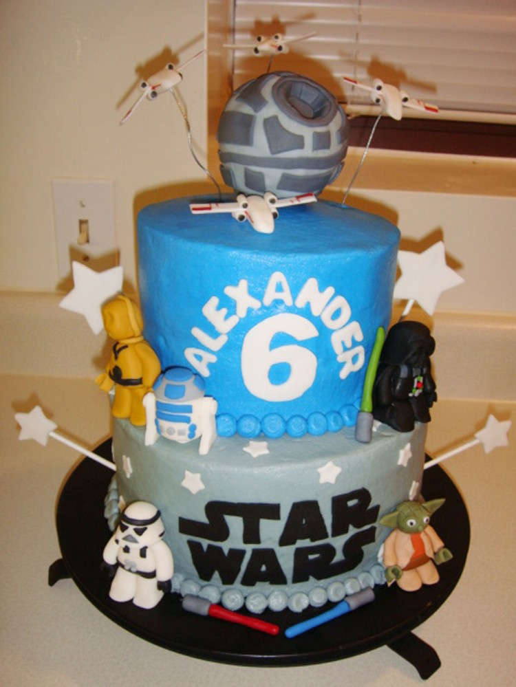 Star Wars Birthday Cakes Decorations Picture in Birthday Cake