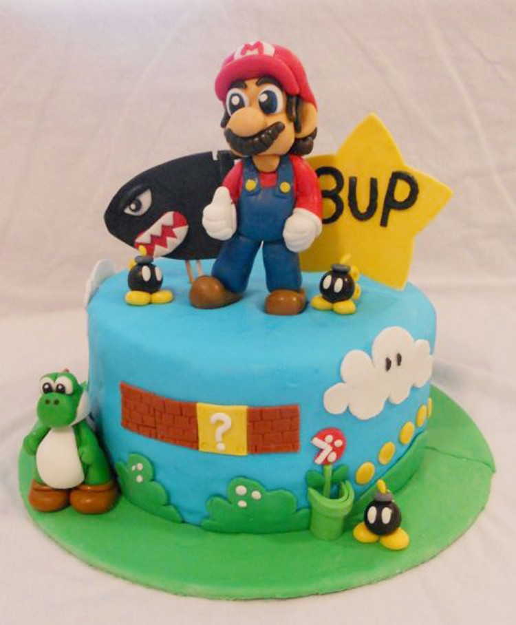 Super Mario Bros Birthday Cake Picture in Birthday Cake