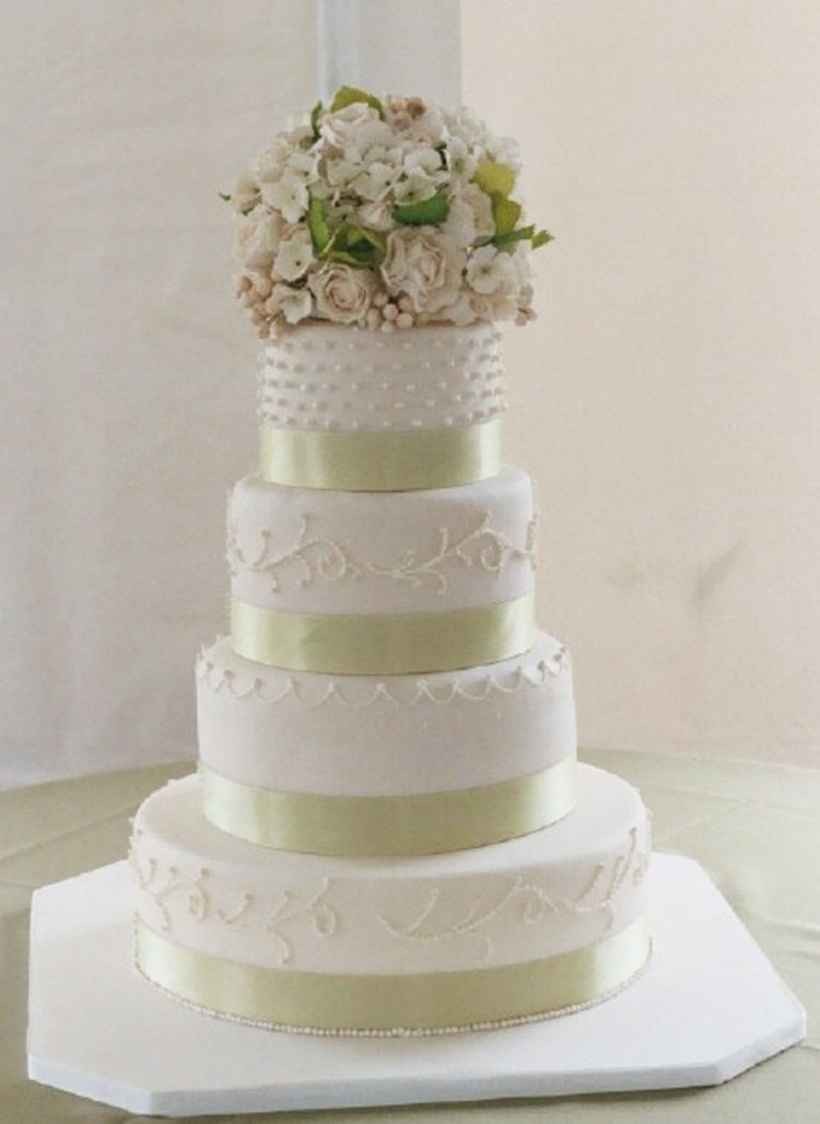 Super Moist White Wedding Cake Recipe Picture in Wedding Cake