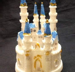 1024x1254px Sweet Cinderella Castle Wedding Picture in Wedding Cake