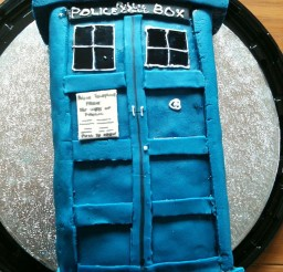 1024x1365px Tardis Birthday Cake Template Picture in Birthday Cake