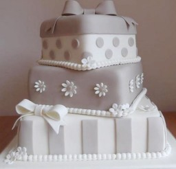 1024x1024px Three Layer Silver Wedding Cake Picture in Wedding Cake