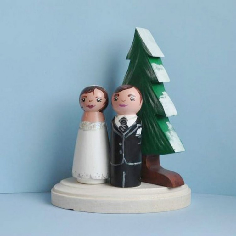 Tree Wedding Cake Topper Picture in Wedding Cake