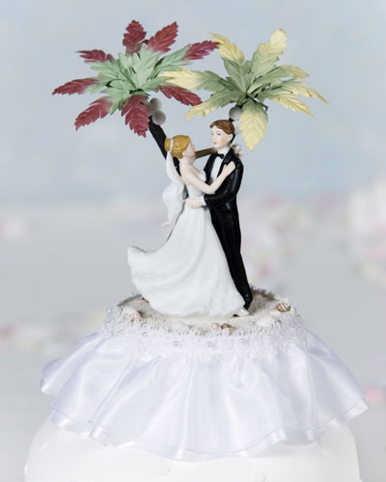 Tropical Beach Wedding Cake Toppers Picture in Wedding Cake