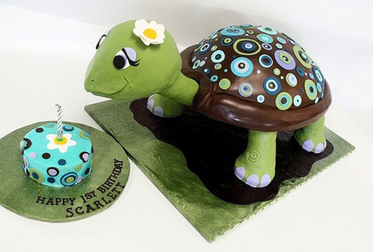 Turtle Birthday Cake Ideas Picture in Birthday Cake