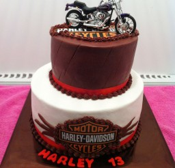 1024x1370px Two Layer Harley Davidson Birthday Cakes Picture in Birthday Cake