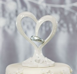 1024x1229px Unique Double Heart Wedding Cake Topper Picture in Wedding Cake