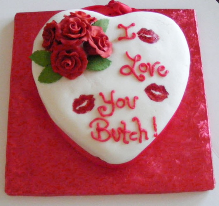 Valentine Heart Cake Ideas Picture in Valentine Cakes