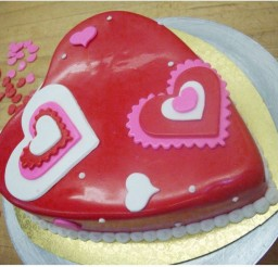 1024x834px Valentine Heart Shaped Cake Picture in Valentine Cakes