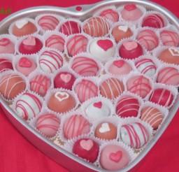 1024x768px Valentines Day Cake Balls Idea Picture in Valentine Cakes