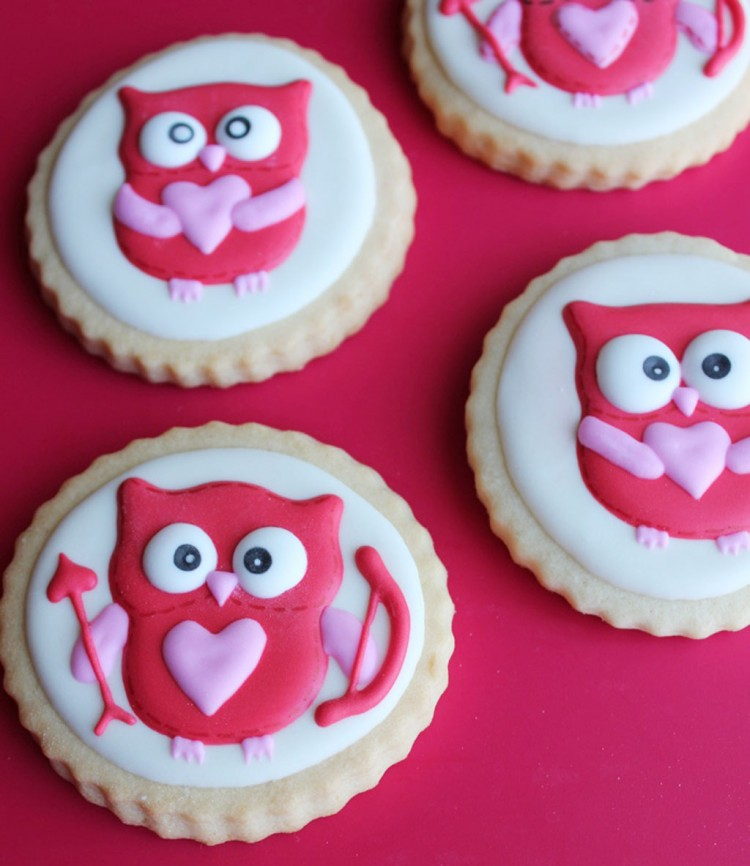 Valentines Day Owl Cookies Picture in Valentine Cakes