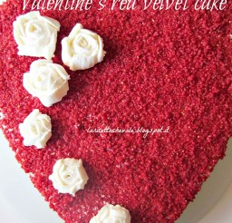 1024x1365px Valentines Red Velvet Cake Idea Picture in Valentine Cakes