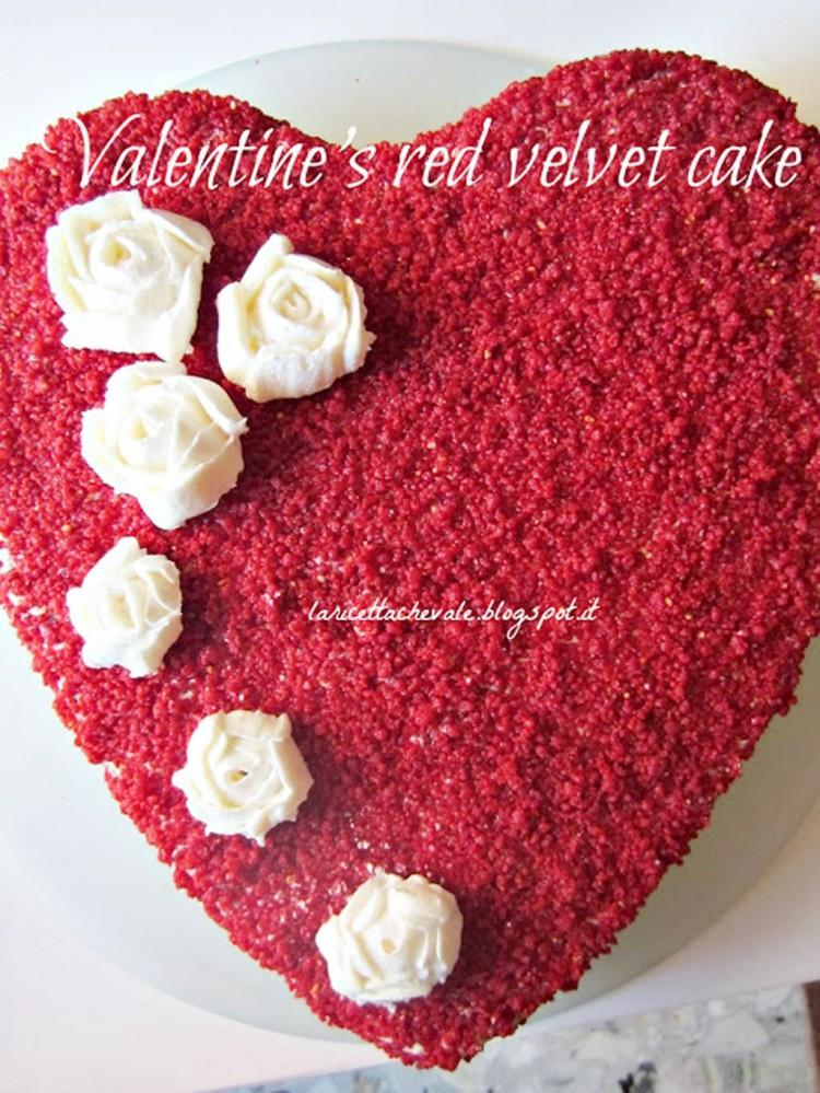 Valentines Red Velvet Cake Idea Picture in Valentine Cakes