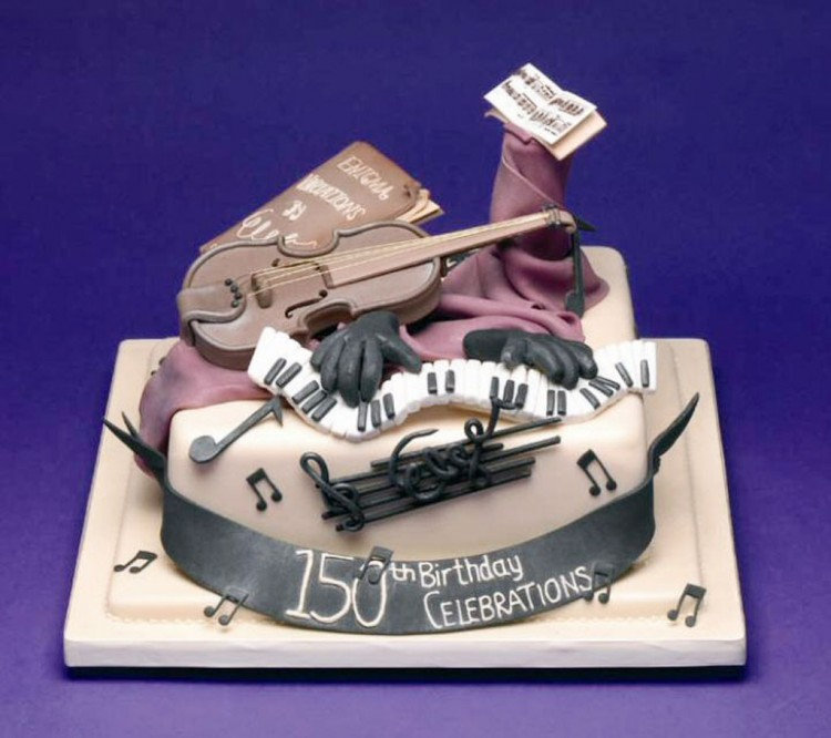 Violin Birthday Cakes Toppers Picture in Birthday Cake