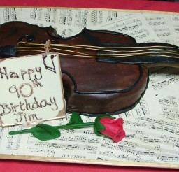 1024x610px Violin Cakes For Birthday Picture in Birthday Cake