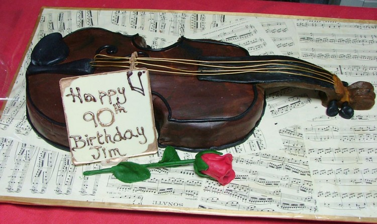 Violin Cakes For Birthday Picture in Birthday Cake