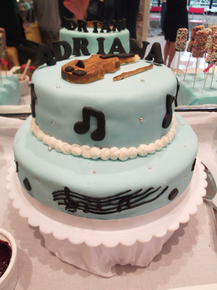 Violin Themed Birthday Cakes Picture in Birthday Cake