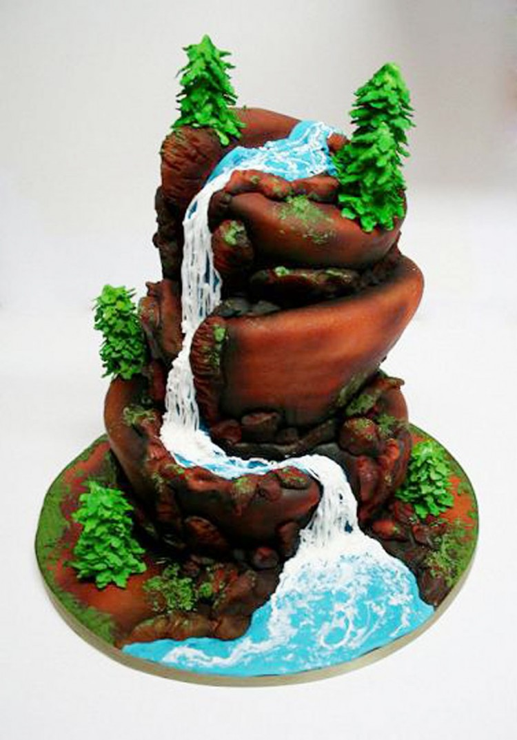 Waterfall Wedding Cakes Picture in Wedding Cake