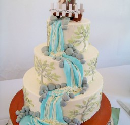 1024x1365px Waterfall With Rocks Wedding Cake Picture in Wedding Cake