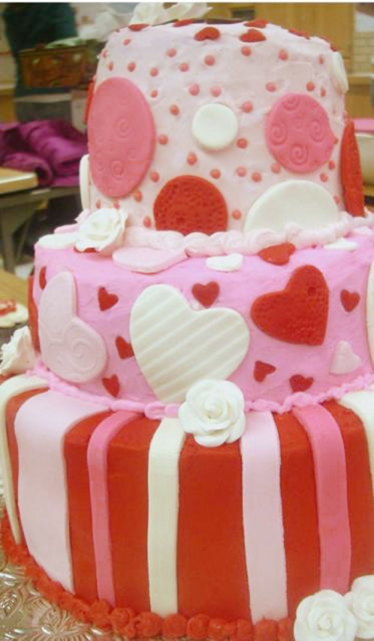 Wedding Valentine Day Cake Ideas Picture in Wedding Cake