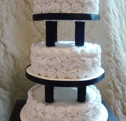 1024x1531px Wedding Cake Pillars And Plates Picture in Wedding Cake