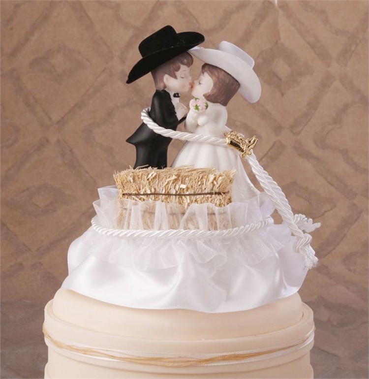 Wedding Cake Topper Western Picture in Wedding Cake