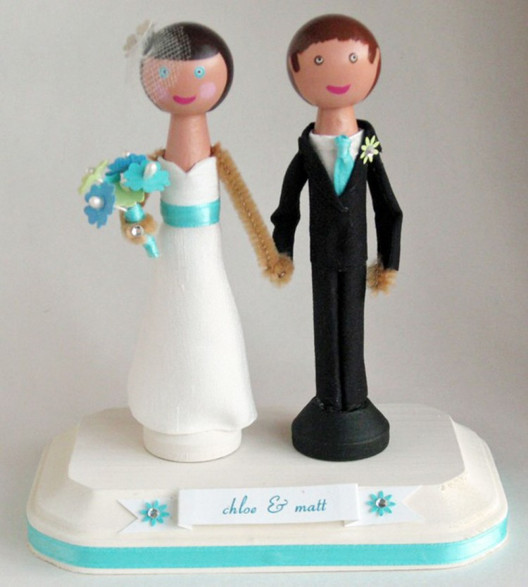 Wedding Cake Toppers Etsy 1 Picture in Wedding Cake