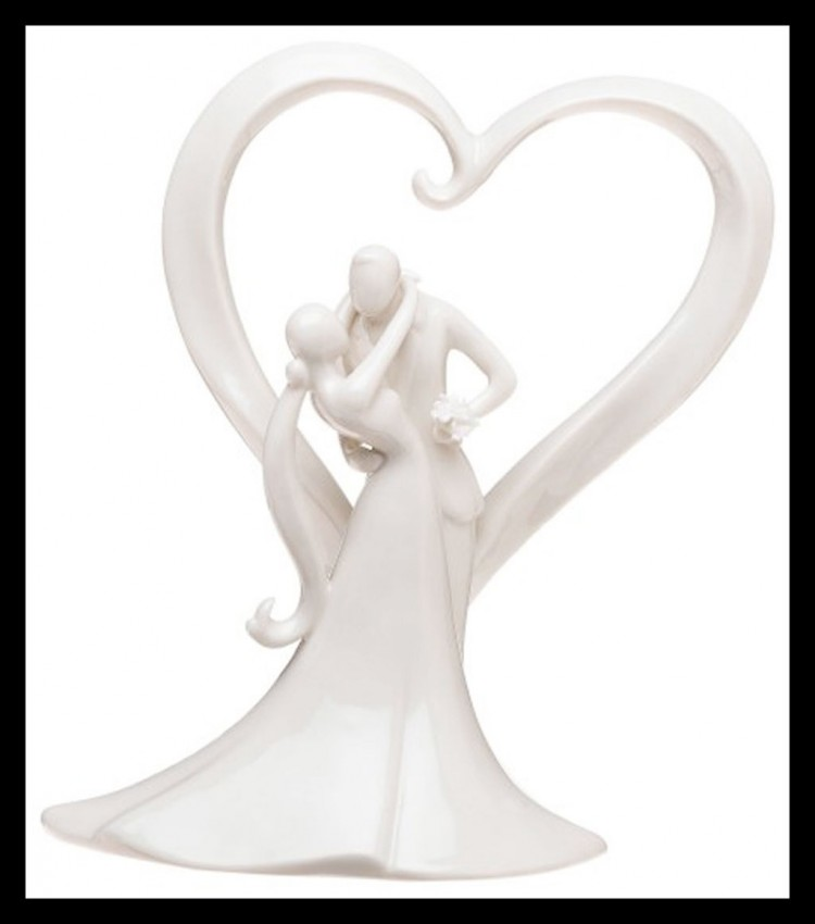 Weddingstar Stylish Embrace Cake Topper Picture in Wedding Cake