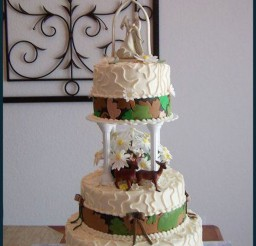 1024x1562px White Camouflage Wedding Cake Picture in Wedding Cake