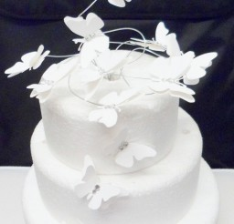 1024x1498px White Butterfly Swirl Wedding Cake Topper Picture in Wedding Cake